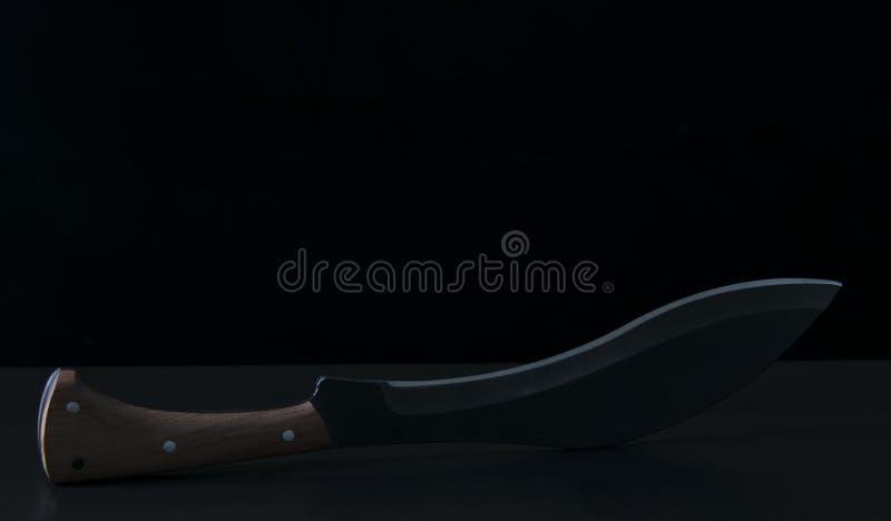 Groot vouwend mes scherp voor keuken stock afbeeldingen
