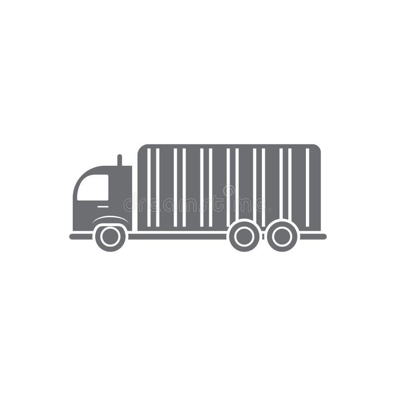 Groot vrachtwagenpictogram Eenvoudige elementenillustratie Het grote ontwerp van het vrachtwagensymbool van de reeks van de Vervo royalty-vrije illustratie