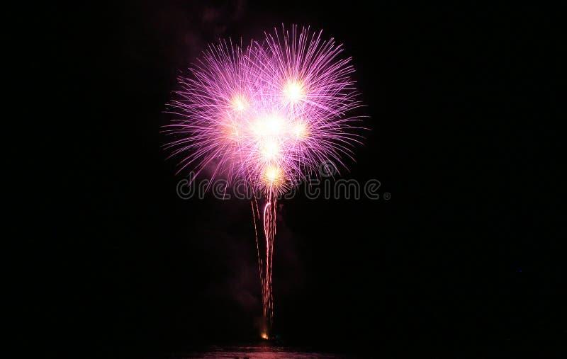 Groot Vuurwerk stock foto