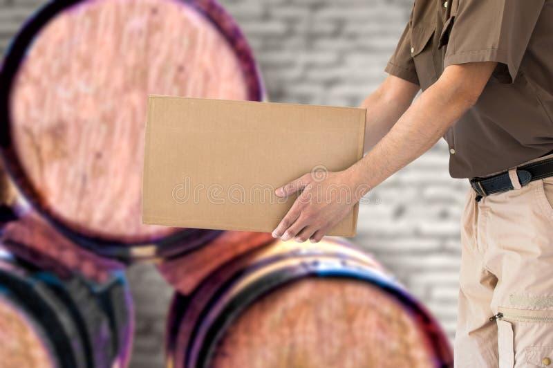 Groot wijnvervoer stock afbeelding