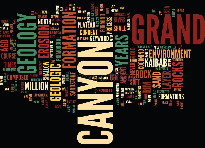 Groot Word van de Canionsgeologie Wolkenconcept royalty-vrije illustratie