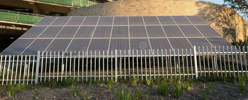 Groot Zonnepaneel stock foto