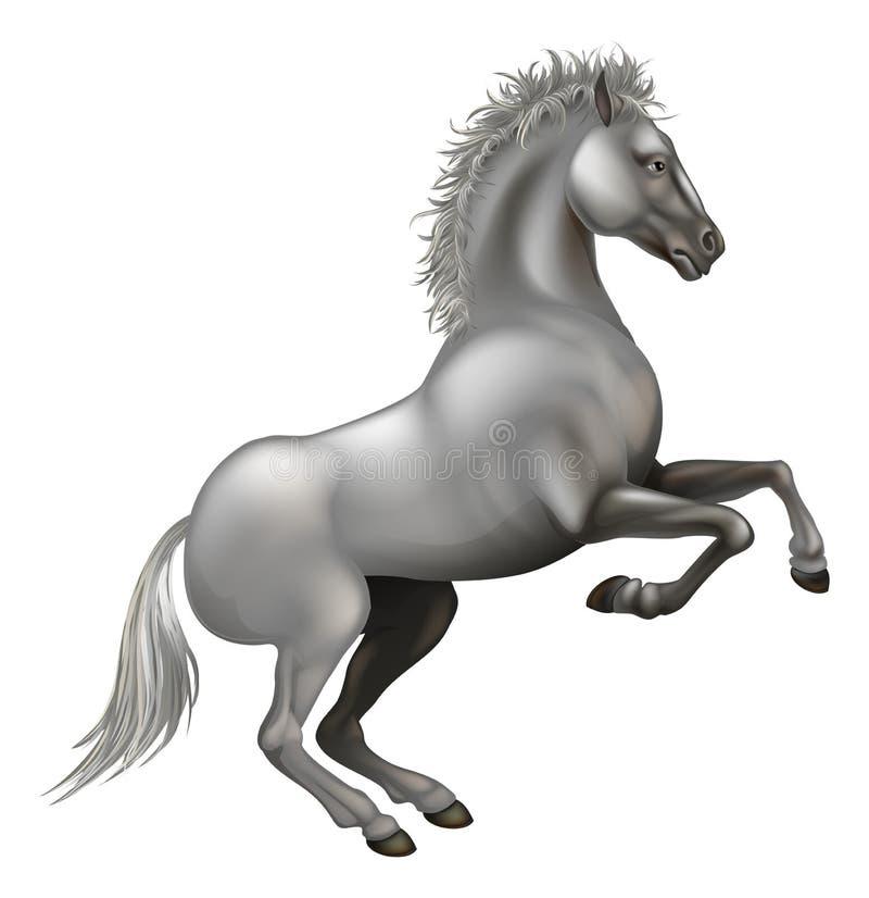 Grootbrengend wit paard vector illustratie