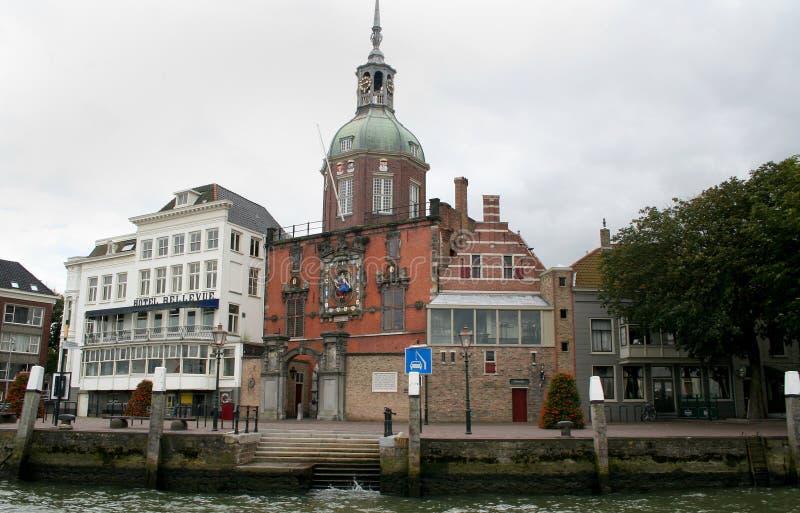 Groothoofdspoort is een vroegere stadspoort in Dordrecht royalty-vrije stock afbeelding