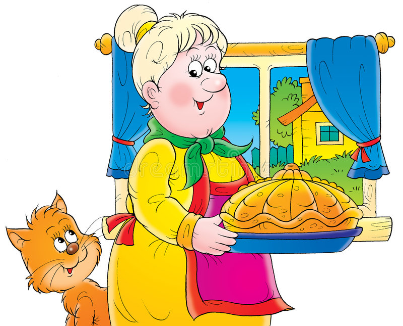 Grootmoeder vector illustratie
