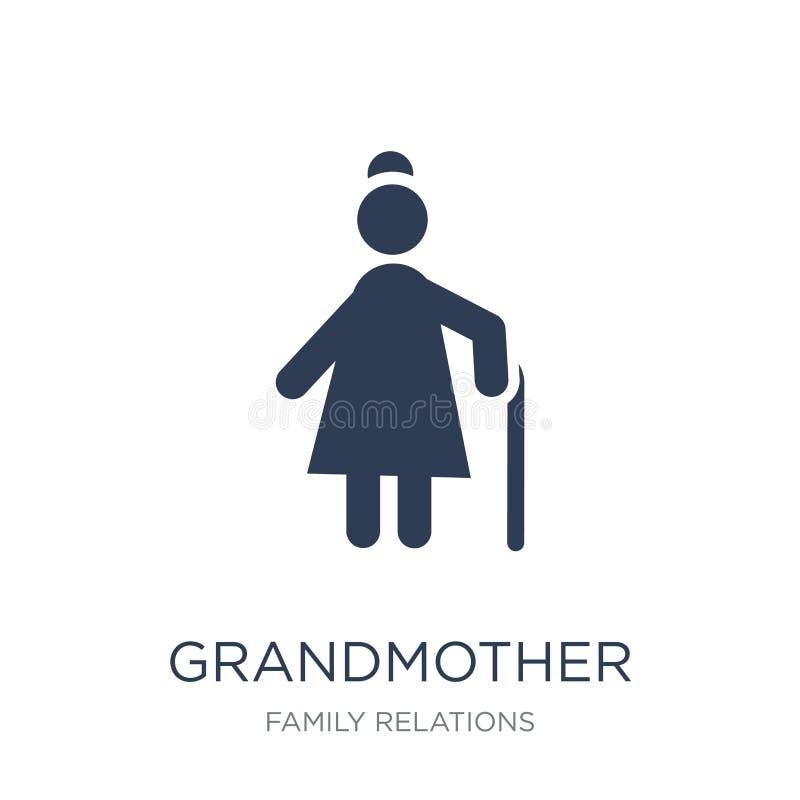 Grootmoederpictogram  stock illustratie