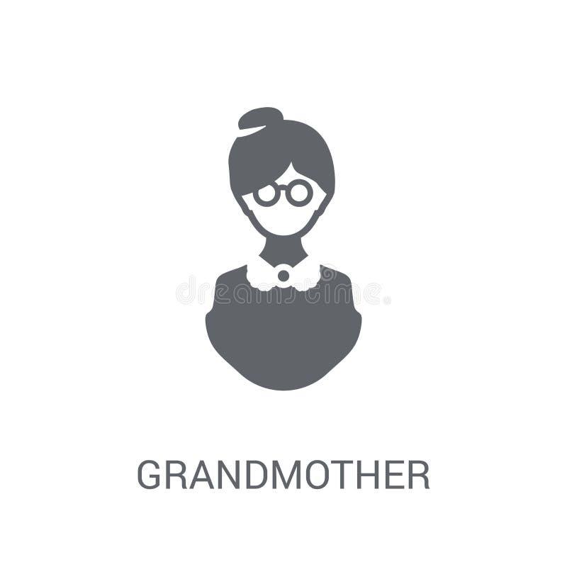 Grootmoederpictogram  royalty-vrije illustratie