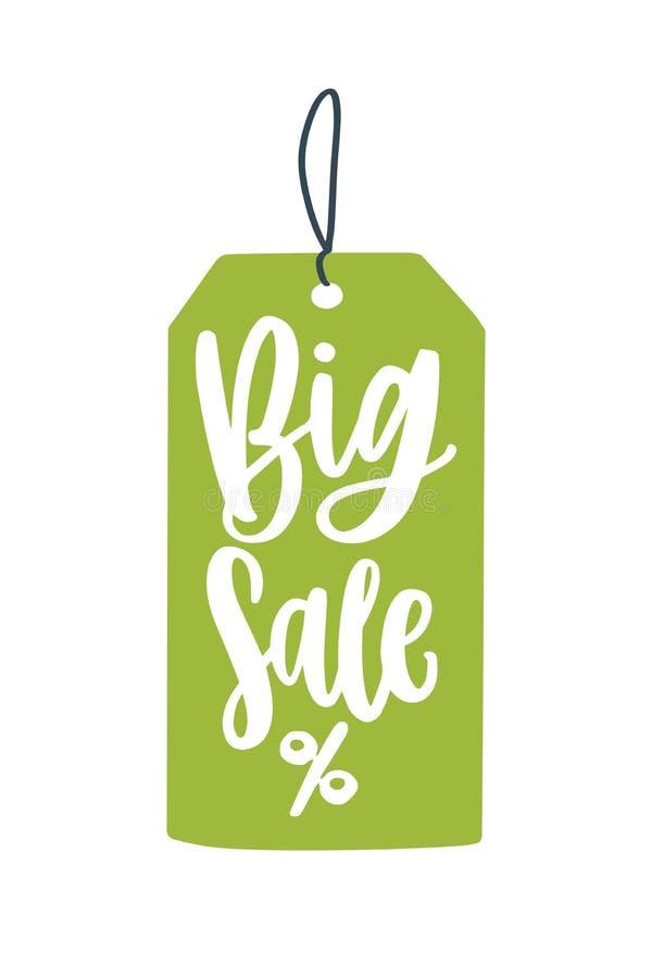 Grootse verkoopprijs, platte vectorillustratie Mega price reduction creative advertentie-idee Seizoensgebonden kortingen promo ba stock illustratie