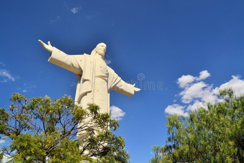 Grootste Jesus Statue wereldwijd, Cochabamba Bolivië stock foto's