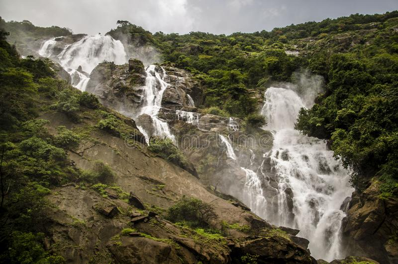 Grootste waterval in India stock foto