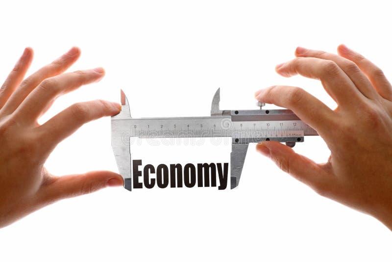 Grootte van onze economie stock afbeeldingen