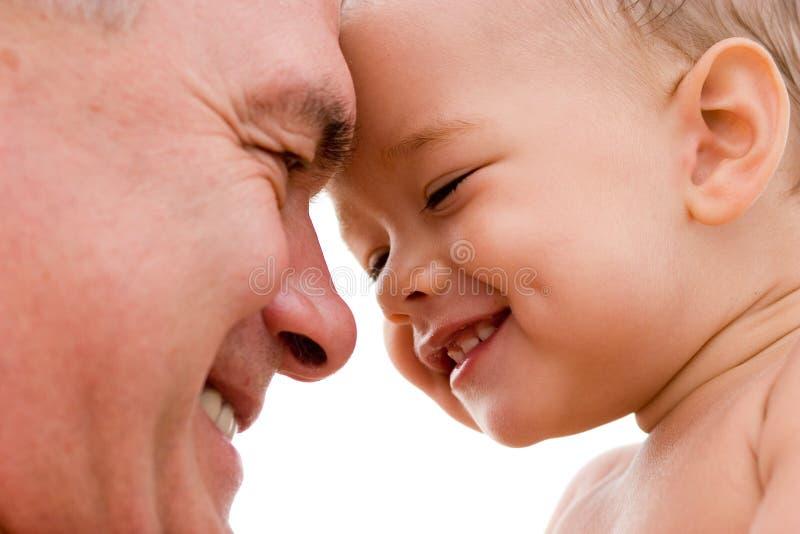 Grootvader en kleinkind royalty-vrije stock afbeeldingen