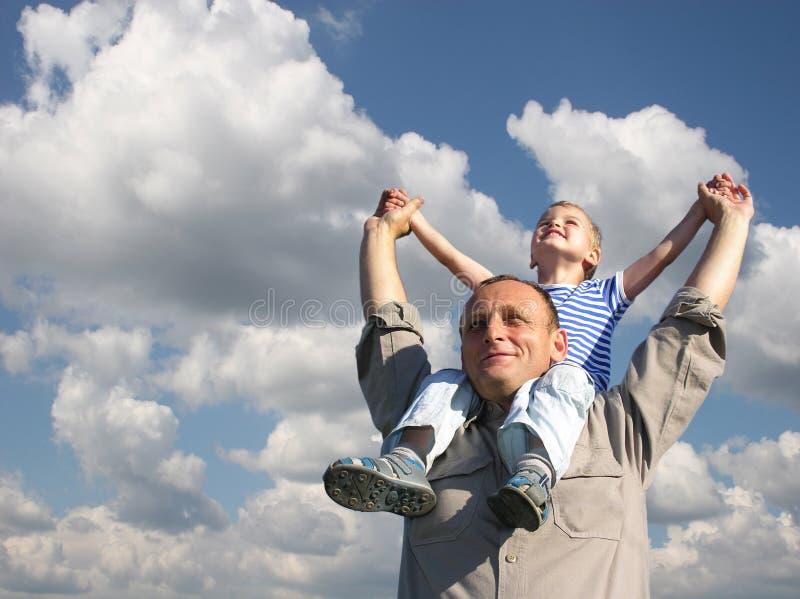 Grootvader met kleinzoon royalty-vrije stock afbeeldingen