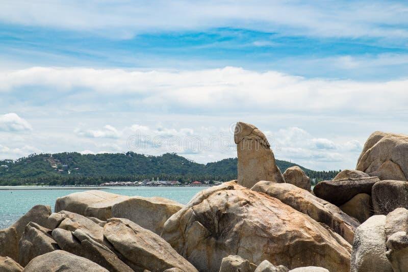 Grootvaderrots (Hin Ta & Hin Yai) in Koh Samui stock afbeeldingen