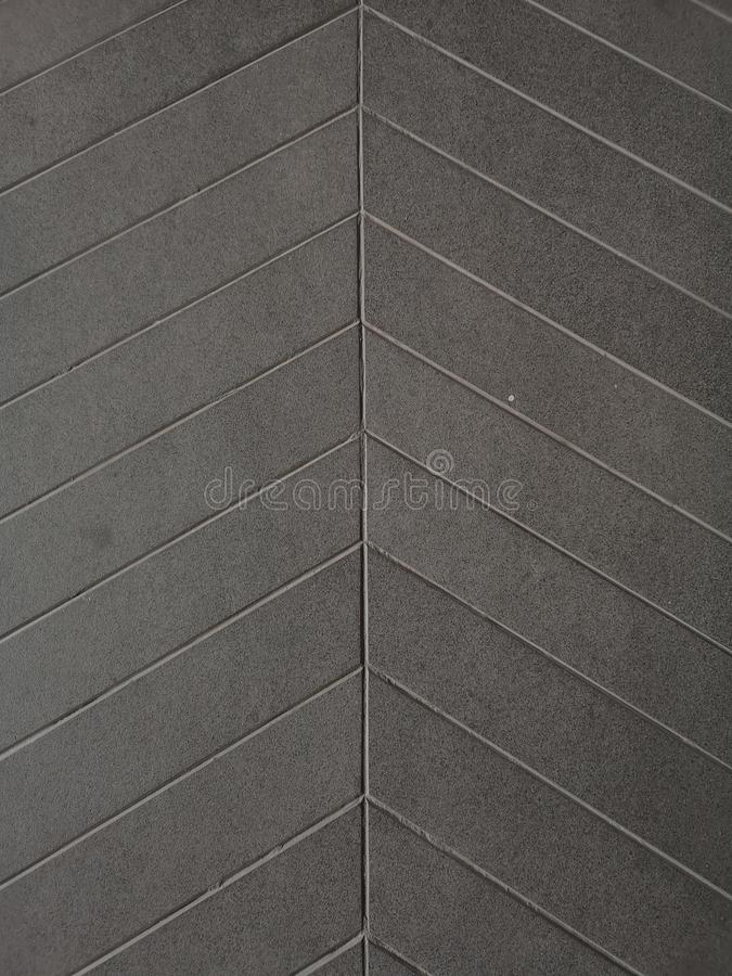 Groove line on cement protect Anti slip ramp concrete rough surface texture floor gray color material stock photos
