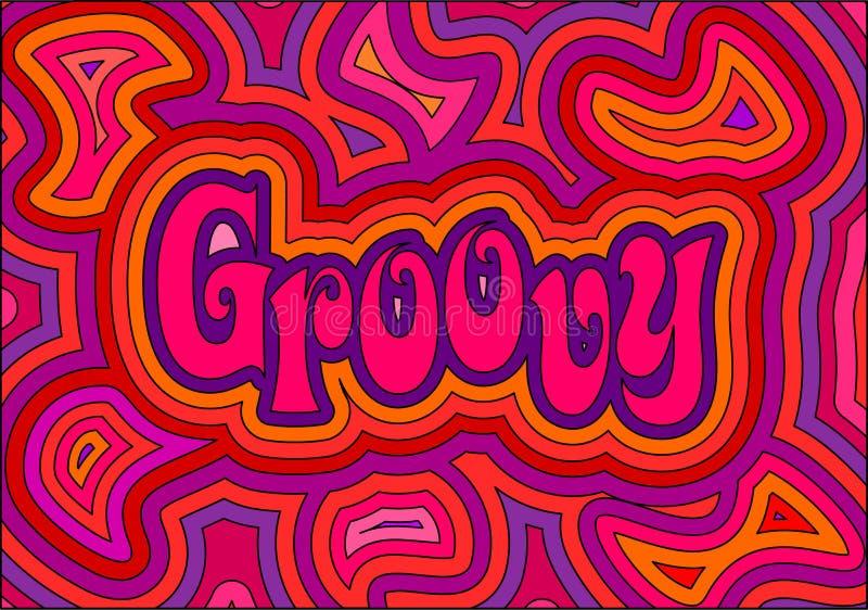 Groovy vector illustration