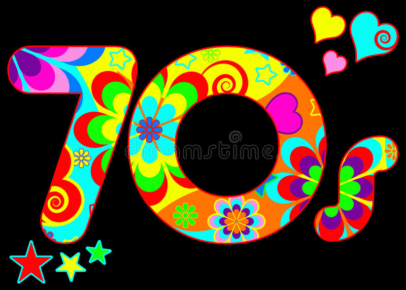 Groovy 70s disco design vector illustration