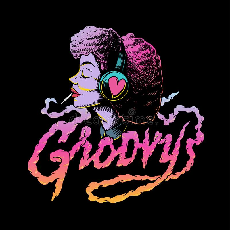 Free Groovy Afro Music Creative Illustration Royalty Free Stock Photo - 120955135