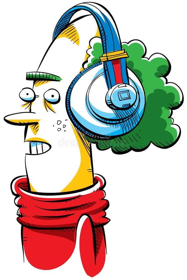 Download Groovy Headphones stock illustration. Image of nerd, bald - 22673710