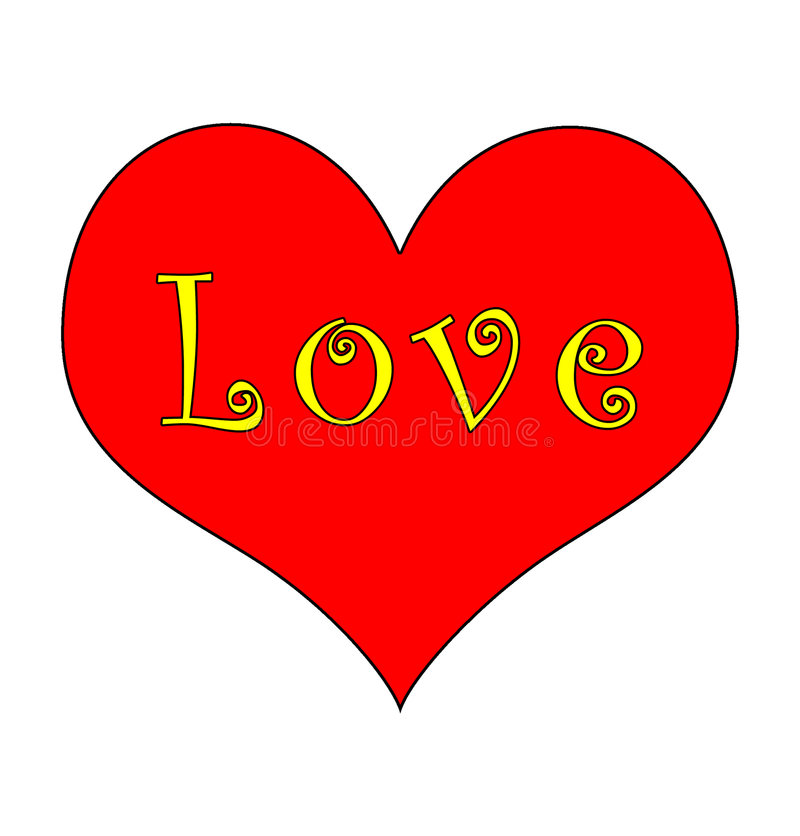 Groovy Heart and Love royalty free stock images