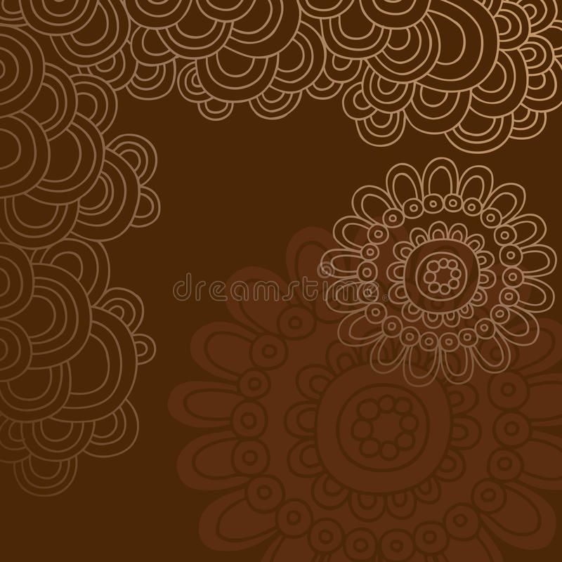 Download Groovy Henna Doodle Circles Border Vector Stock Vector - Image: 10615315