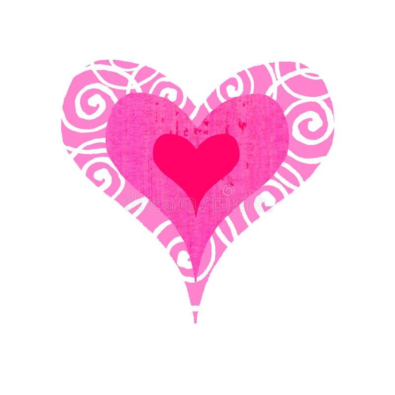 groovy hjärta för bullseye royaltyfri illustrationer