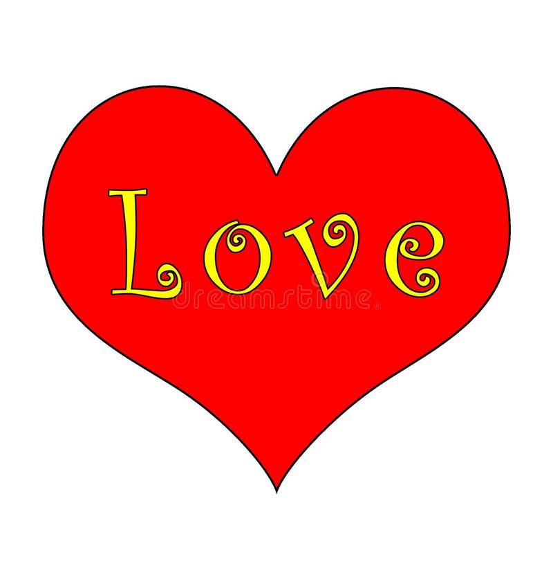 groovy hjärtaförälskelse royaltyfri illustrationer