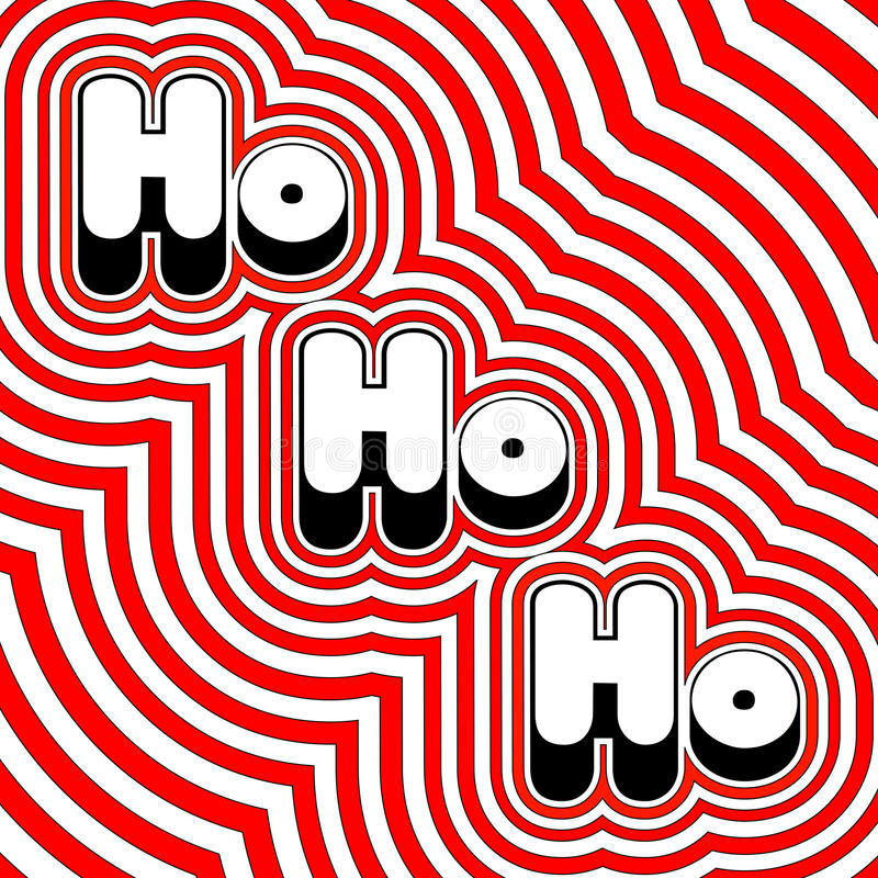 Download Groovy Ho Ho Ho stock vector. Image of happy, groovy - 11970904