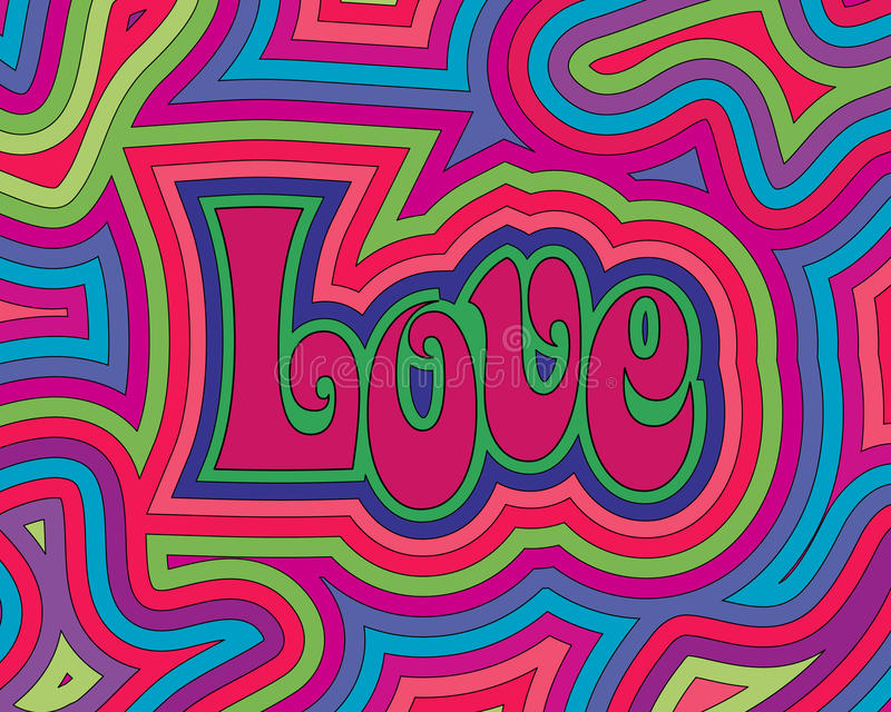 Groovy Liebe vektor abbildung