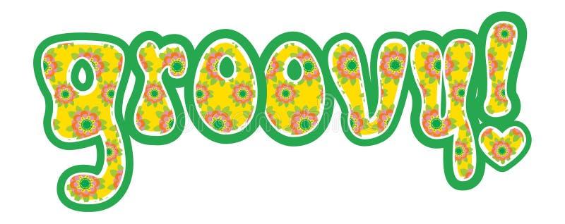groovy ord stock illustrationer