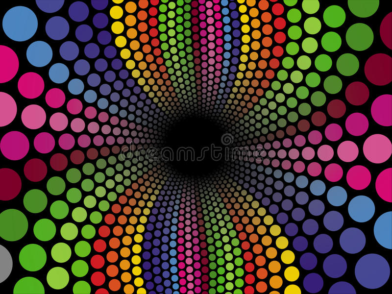 groovy tunnel royaltyfri illustrationer