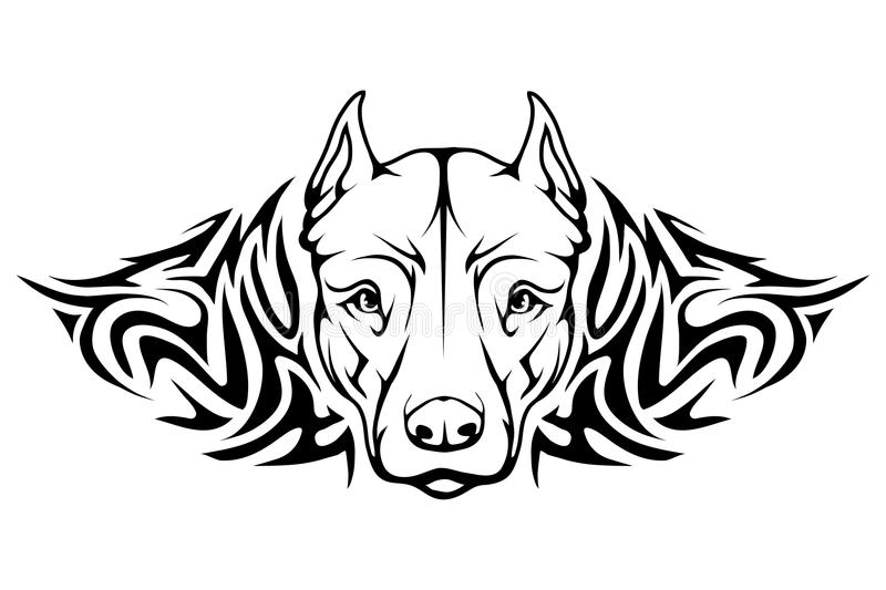 Gropbull terrier symbol royaltyfri illustrationer