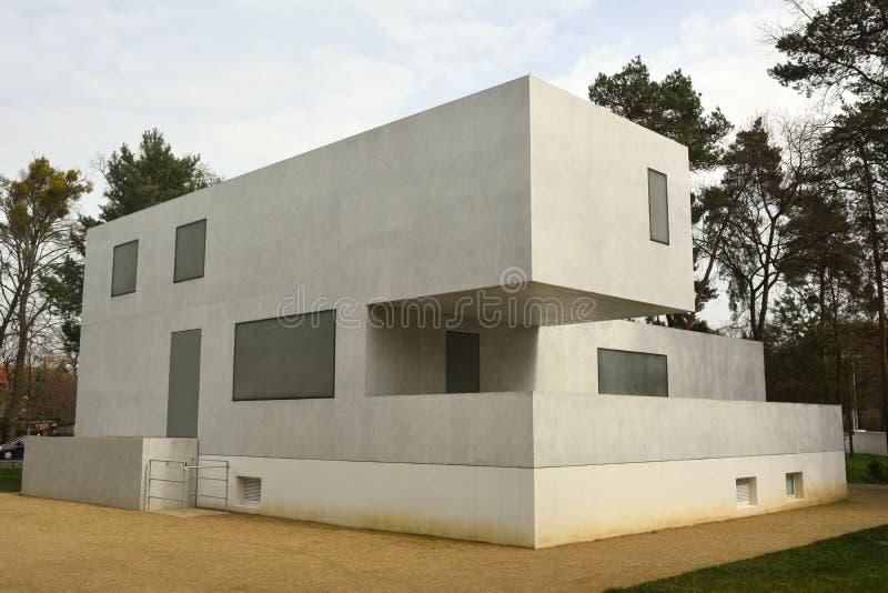 Gropiushaus in dessau-Rosslau royalty-vrije stock foto's