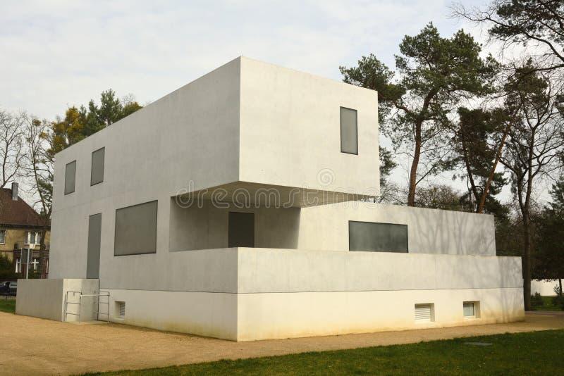 Gropiushaus en Dessau-Rosslau fotografía de archivo