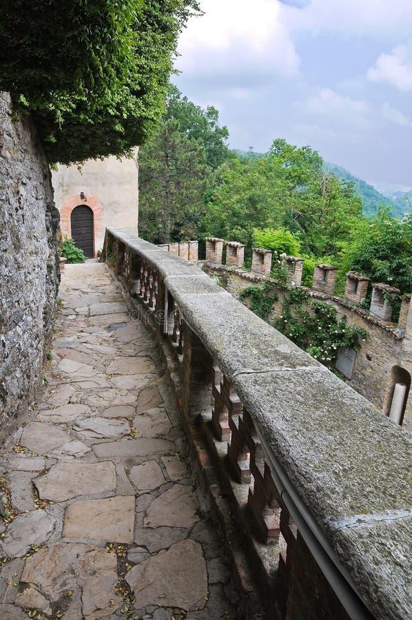 Gropparello Castle Αιμιλία-Ρωμανία Ιταλία στοκ εικόνες
