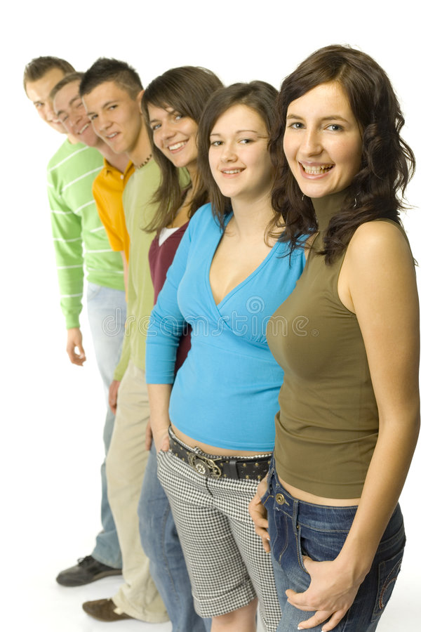 Gropu of teenagers royalty free stock images