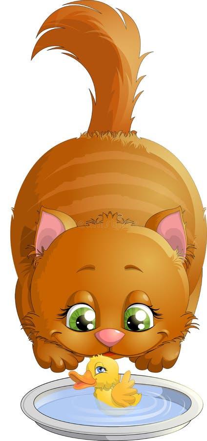 Gros chat illustration stock