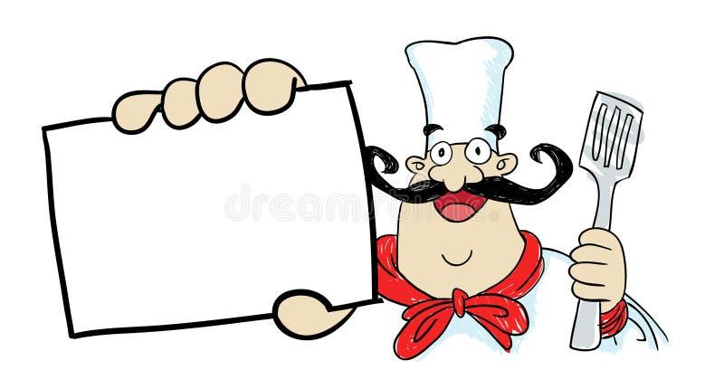 Gros chef illustration stock