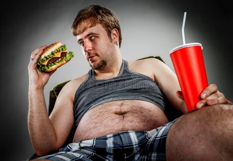 Gros hamburger mangeur d'hommes photographie stock libre de droits