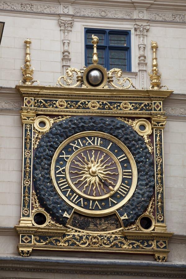 Gros horloge, Rouen zdjęcia royalty free