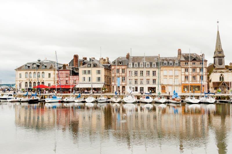 Gros Horloge street in Rouen stock photo