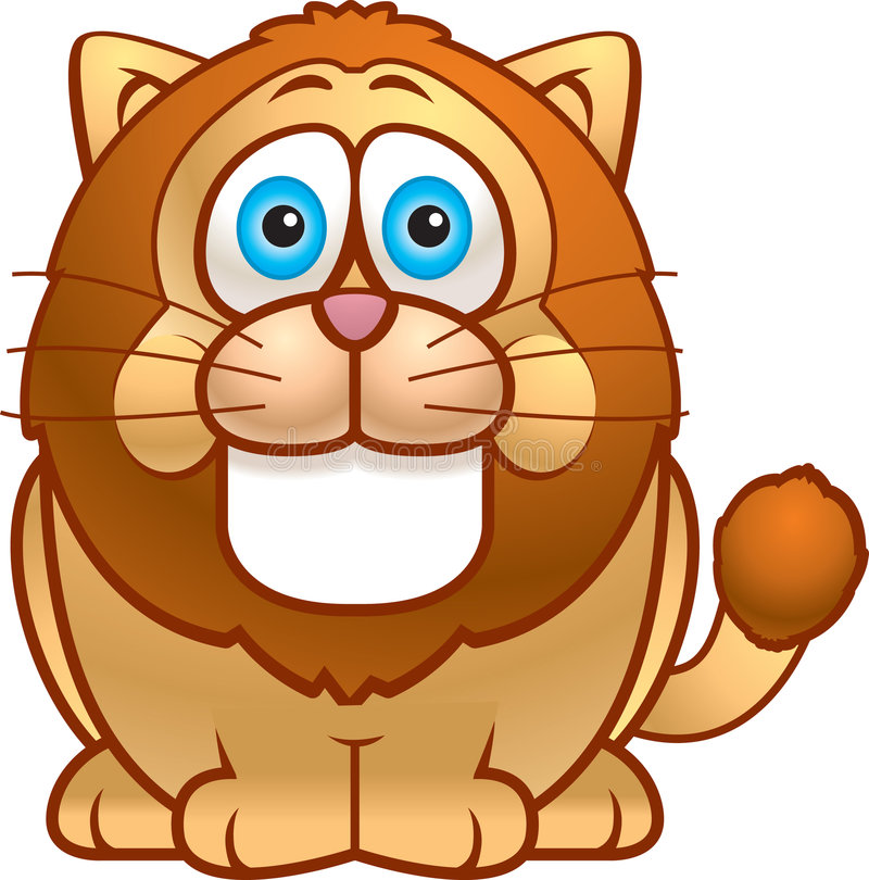 Gros lion illustration libre de droits