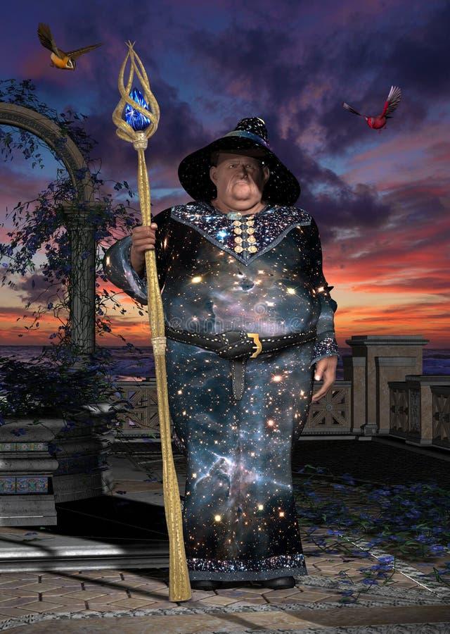 Gros magicien illustration stock