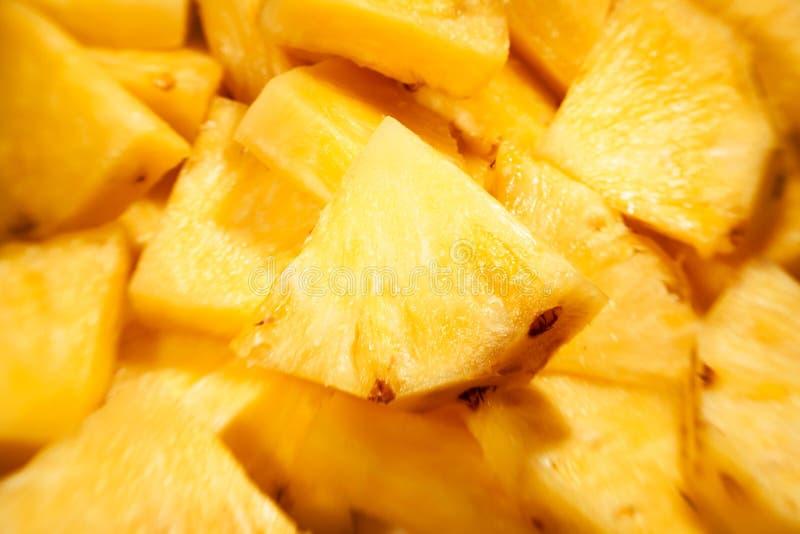 Gros morceaux d'ananas photo stock