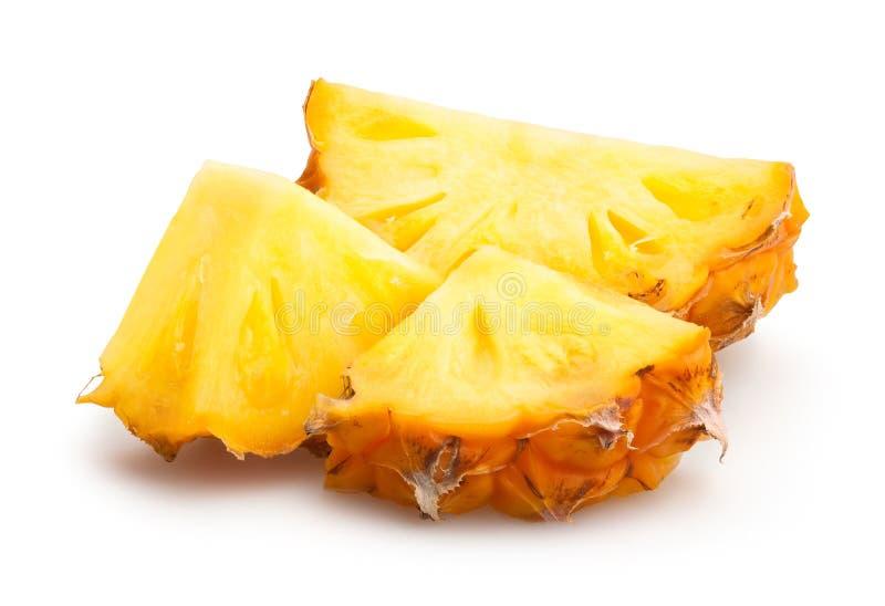 Gros morceaux d'ananas photos stock