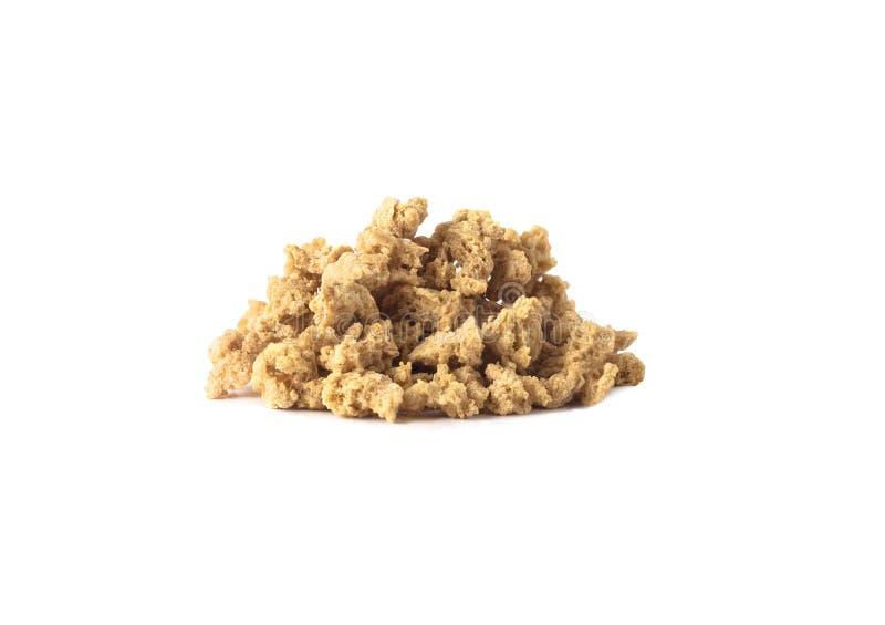 Gros morceaux végétaux de viande de protéine ou de soja photographie stock