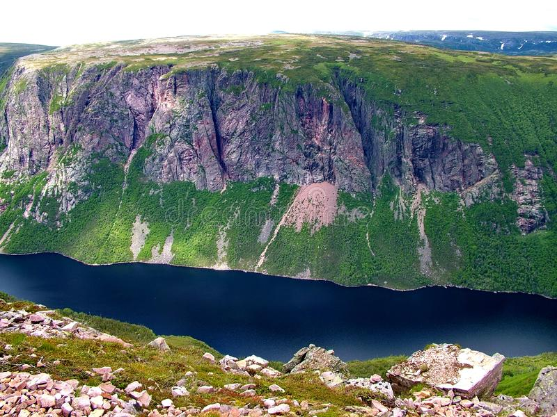 Gros Morne Summit view, Newfoundland. Gros Morne Summit view in Gros Morne National Park, Newfoundland stock image