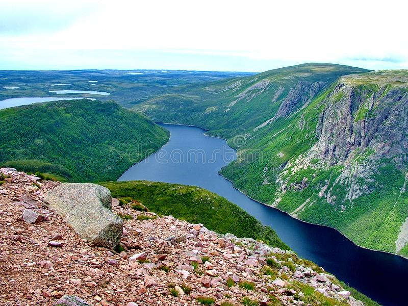 Gros Morne Summit view, Newfoundland. Gros Morne Summit view in Gros Morne National Park, Newfoundland stock photography