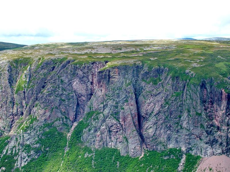 Gros Morne Summit view, Newfoundland. Gros Morne Summit view in Gros Morne National Park, Newfoundland royalty free stock photo
