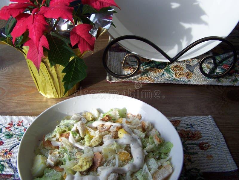 Gros plan de salade César image stock